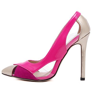 Moda Donna Sandali Sexy donna tacchi 4.73 inch tacco alto Sequin Split Joint Punta Fashion tacchi a spillo/pompe/partito vestito delle scarpe White