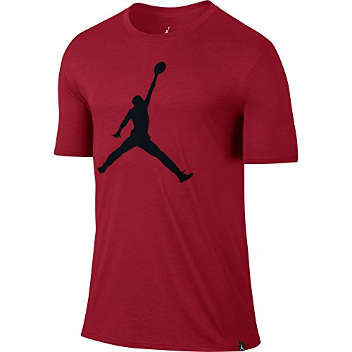 Nike Iconic Jumpman T-Shirt mit Logo, aus der Serie: Michael Jordan, für Herren L Rot (gym red / black) (Gym Jordan)