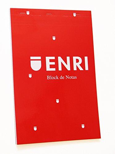 Enri 400032071 - Pack de 5 blocs de notas grapados de tapa blanda, A4