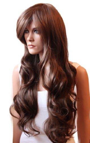 Belle Kostüm Perücke - NEU verführerische lange Perücke wig wie Echthaar braunmix gewellt