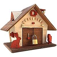 Salvadanaio in legno, idea regalo romantico per San Valentino, salvadanaio di nozze, casetta in legno regalo anniversario regalo innamorati