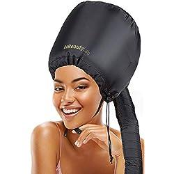 Bonnet Chauffant Cheveux - Bonnet Casque Vapeur Cheveux Ajustable et Portatif - Capuchon pour Séchage Coiffage Bouclage Conditionnement Profond - Bonnet Cheveux Souple Ajustable et Large
