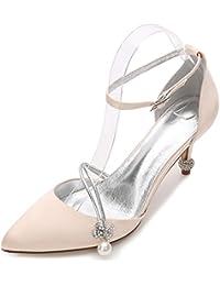 Elegant high shoes Zapatos de Boda Para Mujer 17767-29 Zapatos de Bomba Básicos de Verano Cone Heel Boda y Noche...
