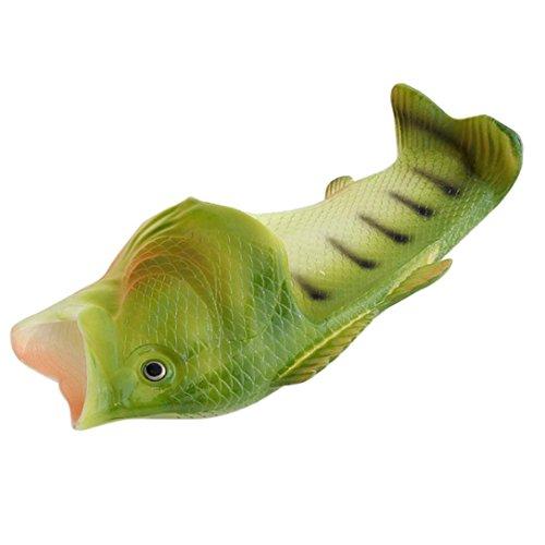 Traumzimmer Unisex Kinder Haus Hausschuhe Fisch Hausschuhe Strand Schuhe Sandalen Flip Flops (26-27, Grün)