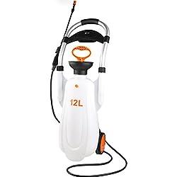 TLMYDD Rociador de riego del Agua de riego de aspersión Botella de Spray Botella lavaojos desinfección móvil Doble Herramientas de jardineria (Color : Blanco)