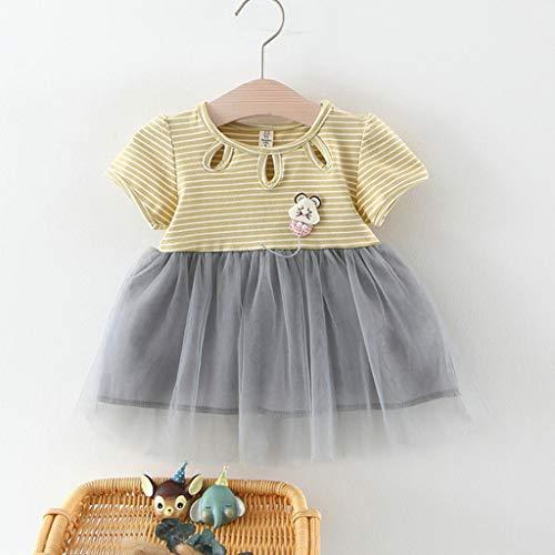 470fc679c Sayla Ropa Bebe NiñA NiñO Verano Camisetas Conjuntos Moda Chica Rayas Tutu.