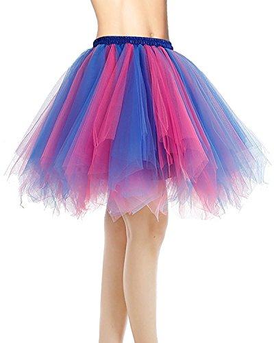 Dresstells jupon jupe ballet tutu court en tulle couleurs variées Vert Foncé