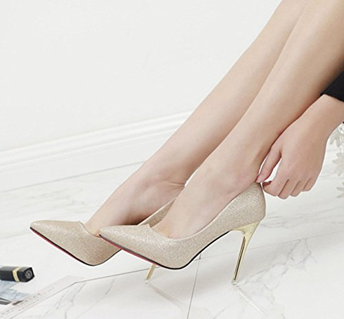 XTIAN - Scarpe con Tacco Donna Gold