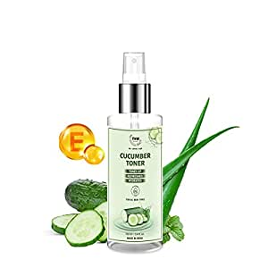 TNW-The Natural Wash Cucumber Toner for Clear and Toned Skin with Cucumber, Vitamin E, Peppermint and Aloe Vera Gel Extracts A Perfect Revitalising Face Spray for All Skin Types Women & Men 100 ml
