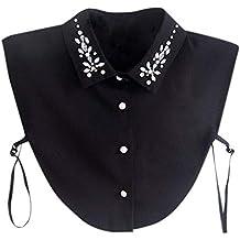 Schwarz Damen Falsche Hemdkragen Creative Fake Kragen