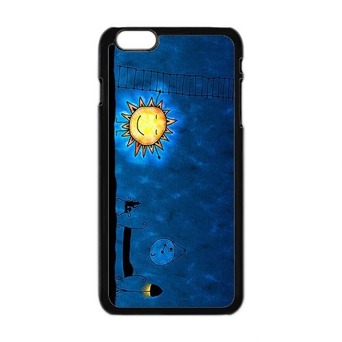 HUAH Cute Night Sun Brand New And Custom Hard Case Cover Protector For Iphone 6 Plus