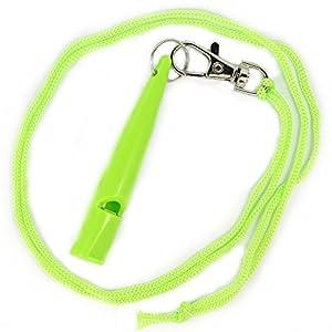 Original tameho pour dressage de chien avec sifflet Dressage pour l'éducation Formation plastique vert clair 210.5Sifflet simple H Sifflet Haute Fréquence...