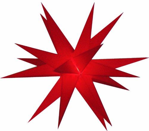 Ministern Baltasar, rot, für innen und außen / Leuchten & Sterne / Variante: Neue Variante: Komplettset mit Trafo