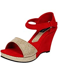 Footshez New Arrival Best Hot Selling Women's red Casual Sandals Low Price Sale