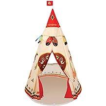 Tente de Ttath Play Tent Príncipe o Princesa Kids Portable Instant Pop Up Play Tienda y Carpa de viaje Protección UV Plegable Sun y Bugs Shelter tienda de campaña de jardín al aire libre (rojo + amarillo)