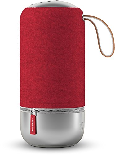 Libratone ZIPP MINI Copenhagen Edition Wireless SoundSpaces Lautsprecher (Multiroom, SoundSpaces, AirPlay, Bluetooth, DLNA, WiFi) Raspberry Red -