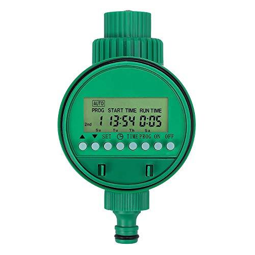 DDPP Bewässerungstimer - Automatischer Bewässerungszeitgeber mit Gewinde mit LCD-Anzeige 1m - 9h 59m Digitaler Bewässerungszeitgeber Automatische Bewässerung Gartengewächshaus Pflanzengras