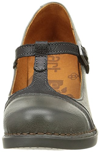 Damen Grau Mary Halbschuhe grey Harlem Art Jane pCwZRqq