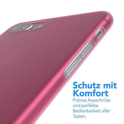 "iPhone 8+ Hülle / iPhone 7+ Hülle - EAZY CASE Premium ""CLEAR"" Slimcover Handyhülle für Apple iPhone 7 Plus & iPhone 8 Plus - Transparente Schutzhülle als Smartphone Cover in Transparent Matt Pink"