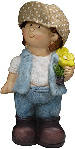 "khevga Gartenzwerg 2er Set aus Terrakotta-Keramik ""Hänsel und Gretel"" - 7"