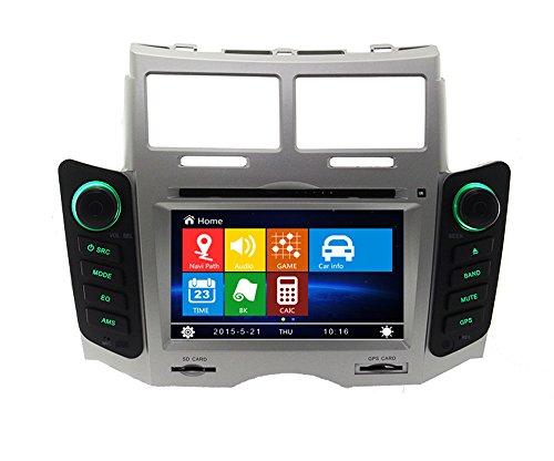 17,8cm-INDASH Auto DVD-Player mit BT/TV, Unterstützung Kamera, Lenkradfernbedienung, USB/SD AUX, Audio Radio Stereo, Car Multimedia Haupteinheit für Toyota Yaris 2005200620072008200920102011