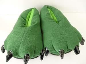2012 - Chaussons adulte pantoufles animaux pantoufle patte animale garder au chaud - vert- pour les hommes 41-43