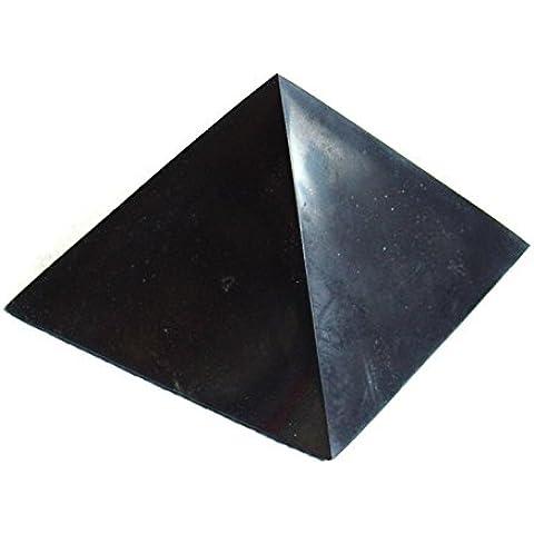 Pulido Shungite de pirámide de Rusia–8cm
