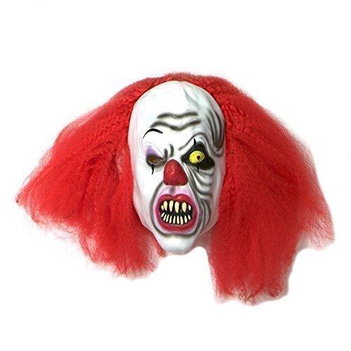 Killer Clown Maske Halloween Kostüm Latexmaske Pennywise Stil - ES - Kostümzubehör