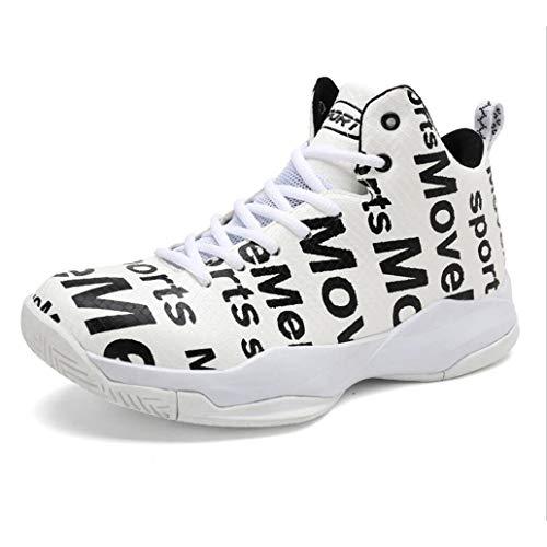 FEI Chaussures de Basket-Ball pour Hommes, Automne et Hiver Baskets Montantes, Chaussures de Course en PU artificielles de Confort, Bottes de Basket-Ball Performance à Absorption de Choc