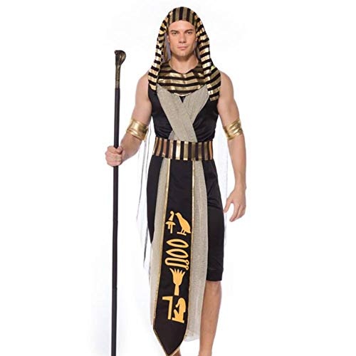 ASDF Alter ägyptischer ägyptischer Pharao COS-Kleidung des Monarchkönigs Erwachsener Mann (Ägyptischen Kostüm Männer)