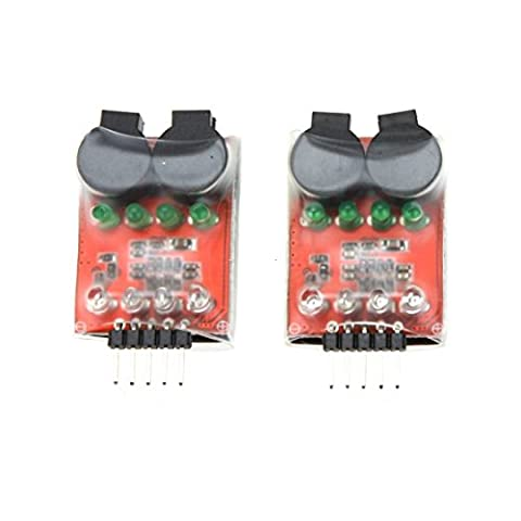 OBOSS 5Pcs Dual Speaker Low Voltage Buzzer BB annunciator w/LED