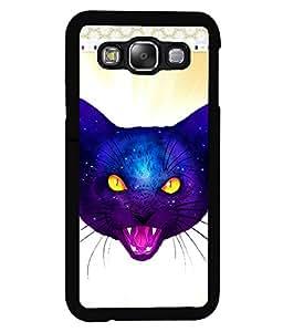 Fuson 2D Printed Cat Designer back case cover for Samsung Galaxy E5 - D4524