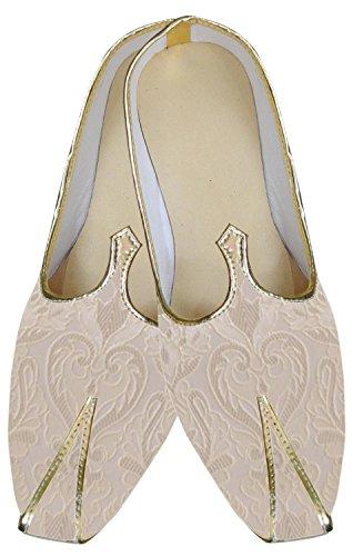 inmonarch Herren indischen Hochzeit Schuhe Elegant Elfenbeinfarben mojari mj162 Elfenbein