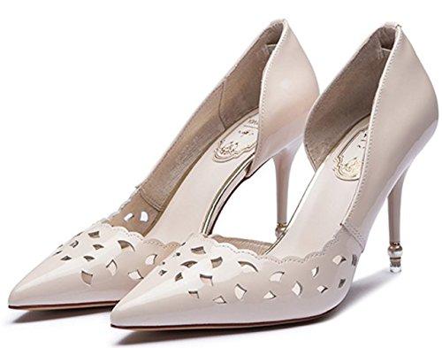 Printemps/Eté Portefeulilles en cuir pour talons aiguilles/Chaussures pointues creux peu profonds B