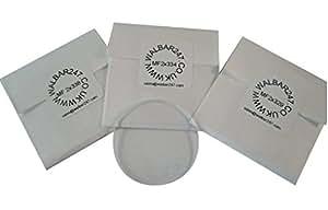 Precision orologio minerale vetro/cristalli–spessore 2mm–36.0–38.0mm Mineral Glass - Round - Flat - 2mm Thick - 36.5mm