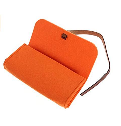 LANTA Home Jikei Portable Felt Brillenetui Sonnenbrillen Aufbewahrungstasche Wolle Bleistiftetui Kosmetiketui (Orange)