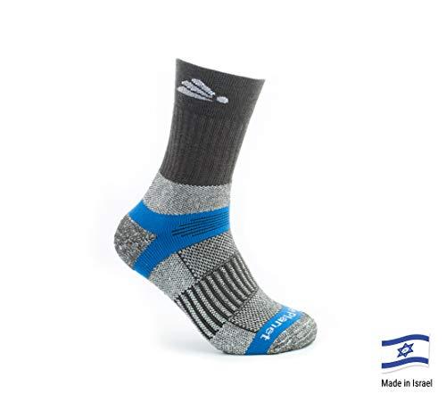 Smartwool Winter Stiefel (Native Planet Wassermann Outdoor Wandern Crew Socken, Mild - heißes Wetter, Micro Channel Wicking, Unisex, Herren, blau/grau, Small)