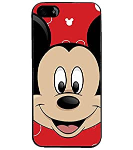 PrintDhaba Mickey Mouse D-2318 Back Case Cover for APPLE IPHONE 5 (Multi-Coloured)