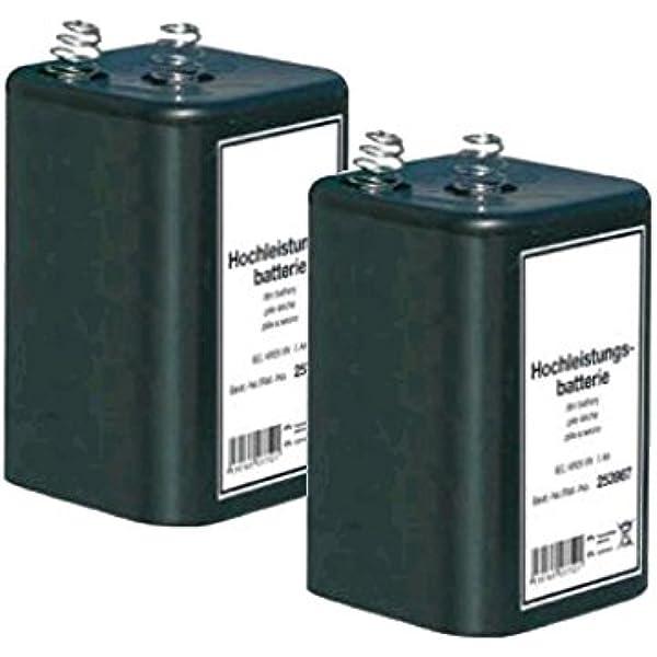 2x Blockbatterie Iec 4r25 6v 7ah Quecksilberfrei Elektronik