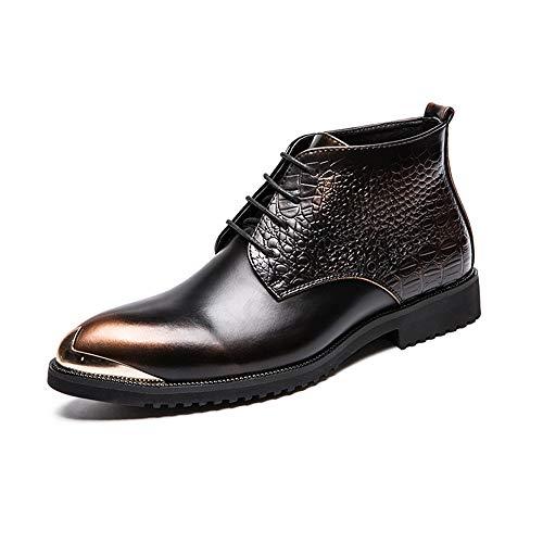 Fang-shoes, 2018 primavera/estate, moda da uomo oxford casual fashion stitching retro scarpe in metallo lucido (color : gold, dimensione : 43 eu)