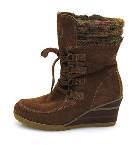 Tamaris ZEPPA STIVALI CON ZEPPA STIVALI Stivali in pelle scarpe di cuoio Stivali invernali 25216 Marrone