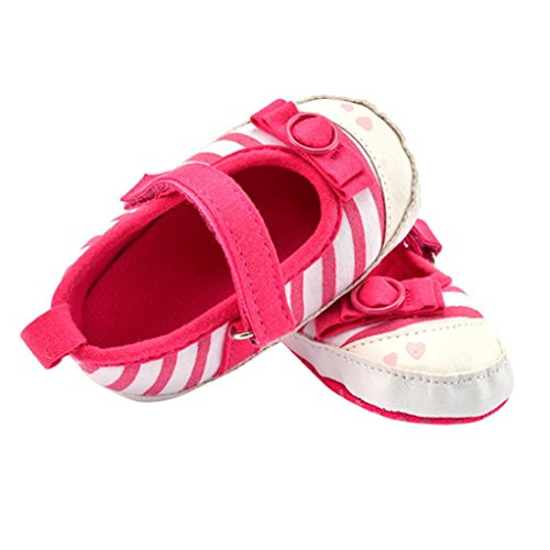 Ouneed® 0- 18 mois BeBe Cotton Mary Jean Bas Chaussures (13, Rose vif) Rose vif
