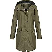 Hanomes Damen pullover, Frauen Solide Regenjacke Outdoor Hoodie Wasserdichte Lange Mantel Mantel Winddicht preisvergleich bei billige-tabletten.eu