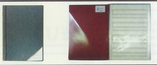 Star Notenmappen mit Klarsichttaschen Nr. 662a - 20 Taschen , Farben blau, schwarz, weinrot, grün