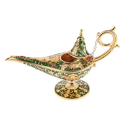 B Blesiya 1 STK. Aladins Wunderlampen Tellerfuß Lampe Schmuckkasten Hausdekor Wunschlampe Schmuck Organizer (Grün)