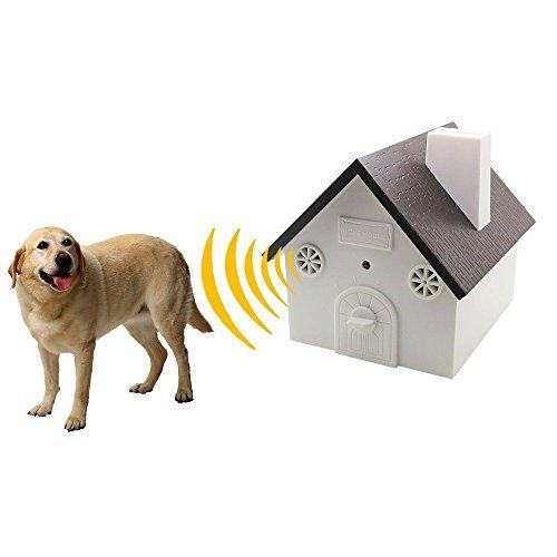 Schalldämpfer Stehen (CY Outdoor Stop Hund Bellen Ultraschall Bark Off Limiter Schalldämpfer Controller Gerät 9V batteriebetrieben in Neueste Vogelhaus Form)