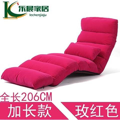 Dngy*persona perezoso sofá cama dormitorio, abatir el respaldo del asiento asiento de ventana flotante Tumbonas tatami japonés , largo - el rojo