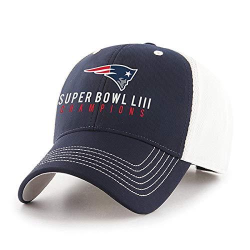 OTS NFL New England Patriots Super Bowl LIII Champions Sling All-Star Verstellbarer Hut (Patriots-retro-baseball-mütze)