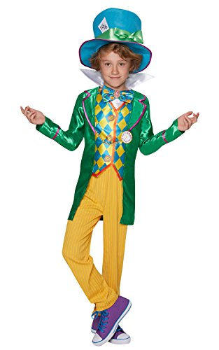 Rubie's Official Boy's Disney Alice in Wonderland Mad Hatter Costume for Age 9-10
