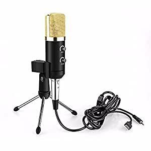 jcotton microphone condenseur filaire avec usb micro studio audio enregistrement support pour. Black Bedroom Furniture Sets. Home Design Ideas